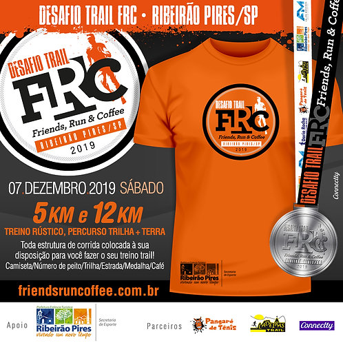 Desafio Trail FRC Ribeirão Pires/SP - 5k e 12k - R$ 39 + Taxa R$ 3,50