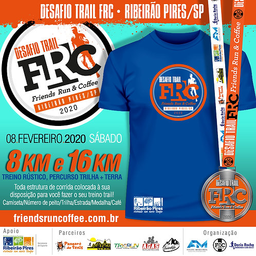 Desafio Trail FRC Ribeirão Pires/SP - 8k e 16k - R$ 45 + Taxa R$ 3,90