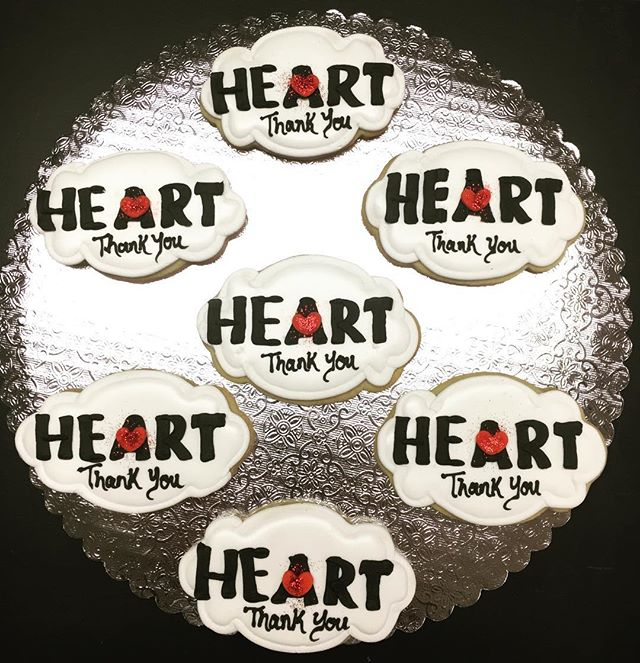 #Heart _stauntonparksandrec Logo Cut-Out Cookies #healthy #enivornmental #after #school #recreation