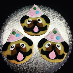 Pug Puppy Cut-Out Cookies