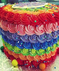 Rainbow Smash Cake #smashcake #rainbow #🌈 #cake #welovecake #pariscakecompany #lovestaunton #happyb