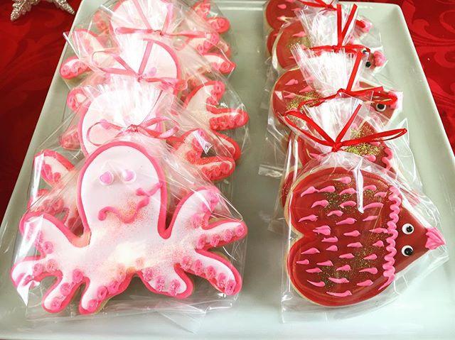 Valentine's Cutouts! #love #lovestaunton #octopus #porcupine #🐙 #cookies #Cutout #hearts #valentine