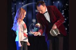 bulles et fille