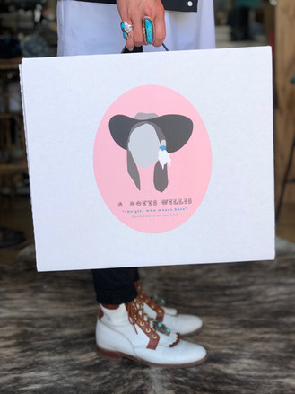 A. Botts Willis hat box- comes with purchase of each hat