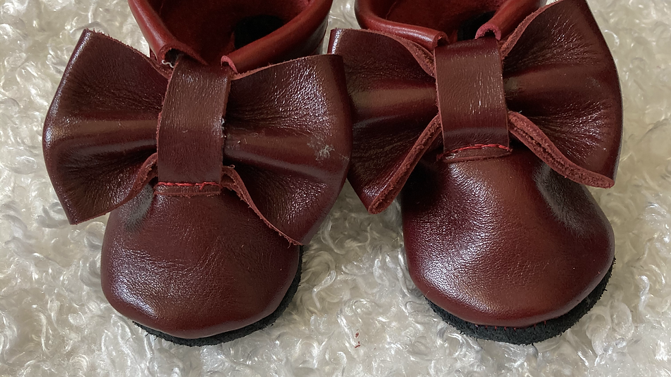 All leather baby shoes