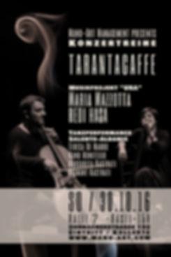 """Manù-Art Management presents Tarantacaffé 2016  mit Maria Mazzotta & Redi Hasa 30. Oktober, 15.00 Uhr, Halle 7 - Querfeld, Basel : das aussergewöhnliche Duo  Redi Hasa - Maria Mazzotta (Albanien - Salento).  Mit ihrem Projekt URA machen die beiden Musiker die möglichen Beziehungen zwischen den Repertoires, die über das adriatische Meer die Balkanen und die Karpathen mit dem Süden Italiens verbinden, sichtbar. """"Ura"""" bedeutet auf Albanisch """"Brücke"""", und """"jetzt"""" im salentinischen Dialekt. Die Stimme von Maria Mazzotta (Sängerin beim Canzoniere Grecanico Salentino) bewegt sich leicht und nuancenreich zwischen den musikalischen Sprachen der beiden Küsten, während der Cello von Redi Hasa (Solist bei Ludovico Enaudi und BandAdriatica) unendlich viele Varianten zu den traditionnellen Melodien improvisiert. https://www.youtube.com/watch?v=xLQzBVxRx9w -Tanzperformance- Salento/Albania  Teresa & Manu Munitello De Mauro  Margarita & Diamant Kastrati www.manu-art.com"""