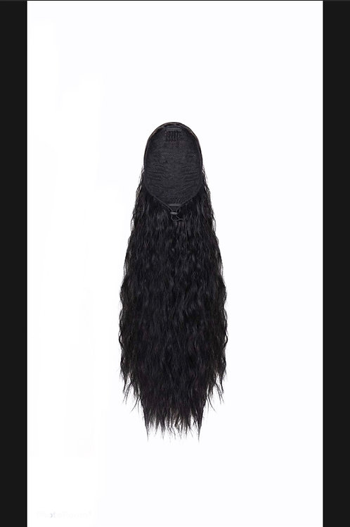 Indian Curly/Wavy drawstring ponytail 18/22""