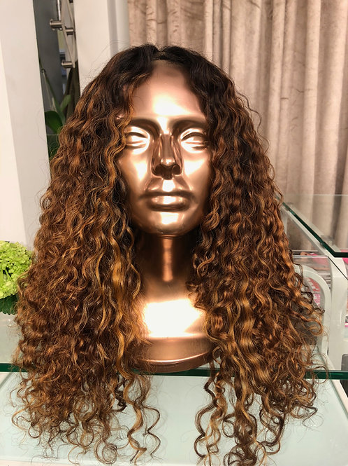 "Colored Coarse Curly Lace closure 22/24"" Amara"