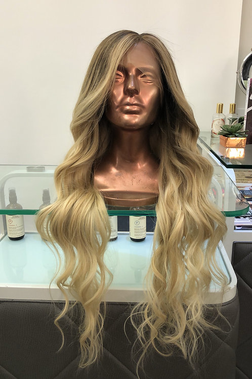 "Brittany Ash Blonde 24"" Long Rooted"