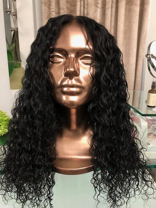 "Kenya 18/20""  Indian Curly Custom Lacefrontal Wig Unit"