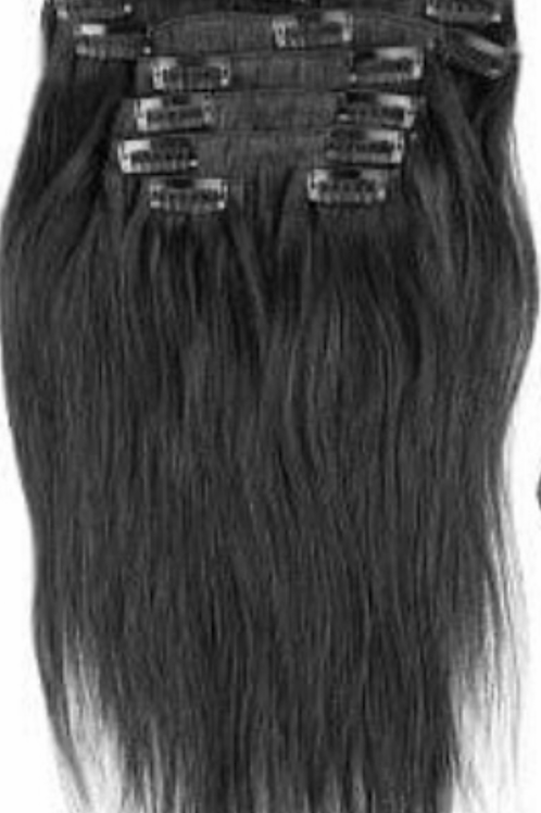 Coarse Straight Indian  Clip-ins 22/24""