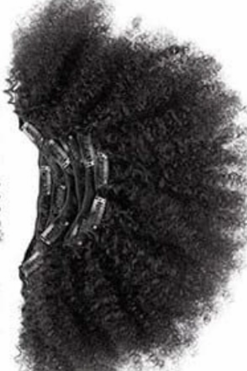 """4c Afro Kinky  Clip-ins 18/20"""""""
