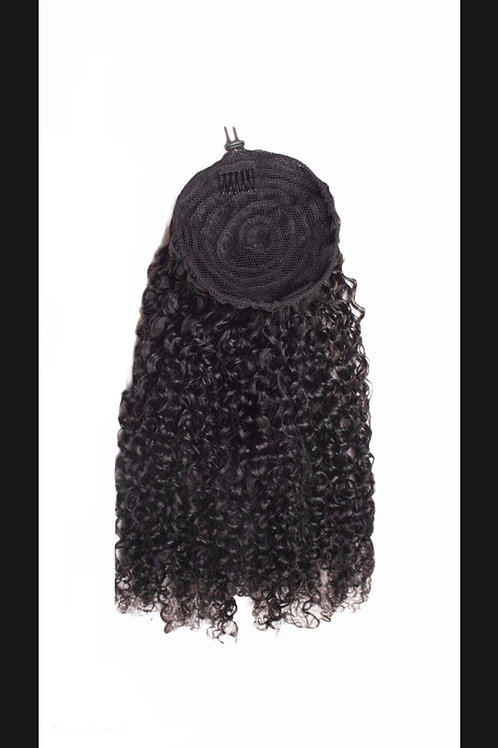 3a-3c kinky curly drawstring ponytail 18/22""