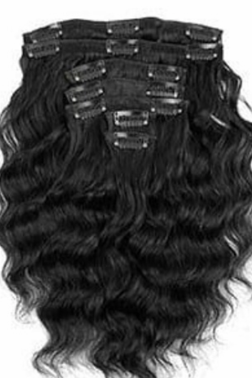 Coarse Indian Curly  Clip-ins 22/24""