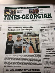 Dooley recognized by The Short Track Rep