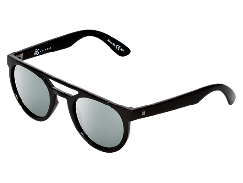 THE NEOS - Gloss Black with Grey Silver Chrome Lenses (Made in Italy)