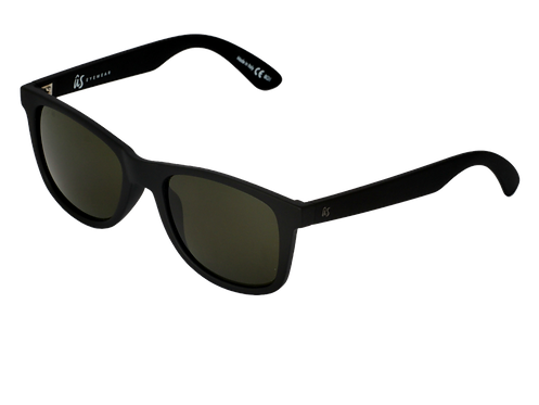 THE MATY - Matte Black with Vintage Grey Polarized Lenses (Made in Italy)