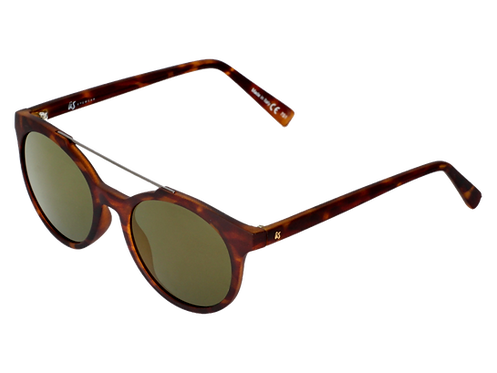 THE CALIX - Matte Tortoise Shell with Grey Gold Chrome Lenses (Made in Italy)