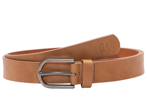 The Beana Genuine Leather Belt in Savannah Brown by Us the Movement