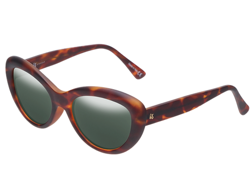 THE DILLAN - Matte Brown Tortoise Shell with Polarised Lenses (Made in Italy)