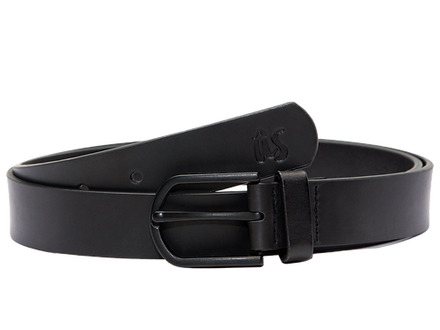 The Beana Genuine Leather Belt in Onyx Black by Us the Movement