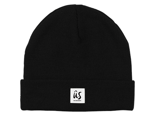The Dazza Beanie in Onyx Black by Ûs the Movement