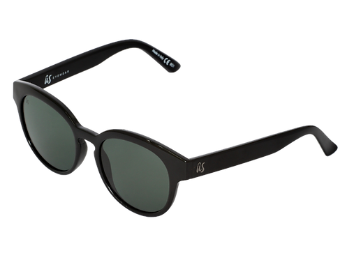 THE NATHI - Gloss Black with Vintage Grey Lenses (Made in Italy)