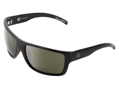 The Tatou eco-friendly sunglasses by Us the Movement in gloss black with polarised lenses