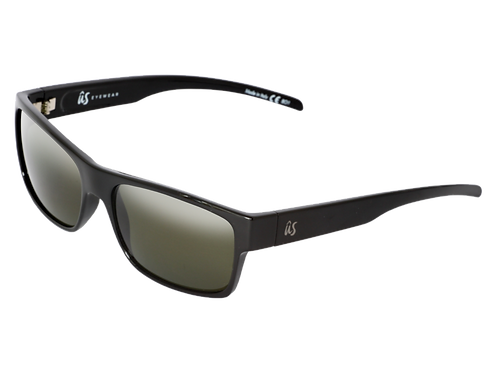 THE ARGOS - Gloss Black with Vintage Grey Polarized Lenses (Made in Italy)
