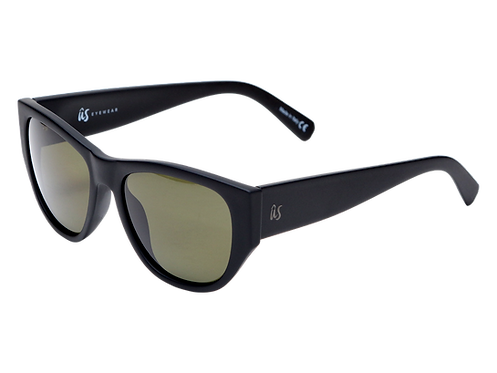 THE DIMAGGIOS - Matte Black with Polarised Lenses (Made in Italy)