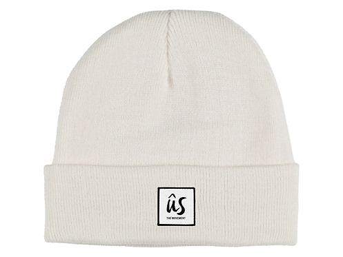 The Dazza Beanie in Ghost White by Ûs the Movement