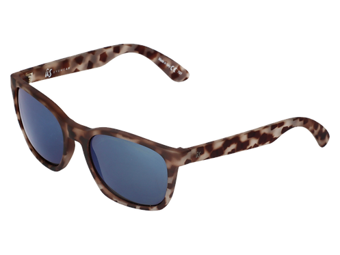 THE BARYS - Matte Tortoise Shell with Grey Blue Chrome Lenses (Made in Italy)