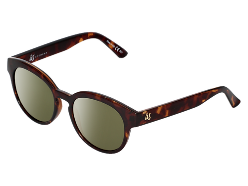 The Nathi eco-friendly sunglasses by Us the Movement in gloss brown tortoise shell
