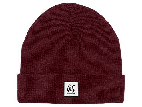 The Dazza Beanie in Blood Red by Ûs the Movement