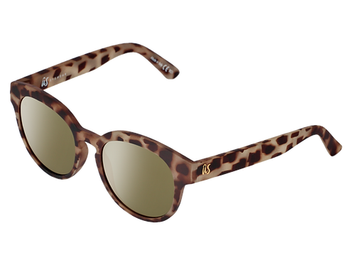 THE NATHI - Matte Tortoise Shell with Grey Gold Chrome Lenses (Made in Italy)