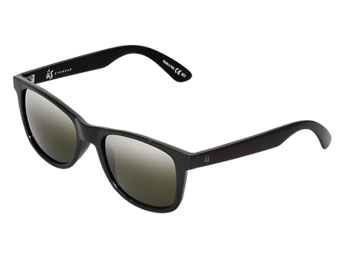 THE MATY - Gloss Black with Vintage Grey Polarized Lenses (Made in Italy)