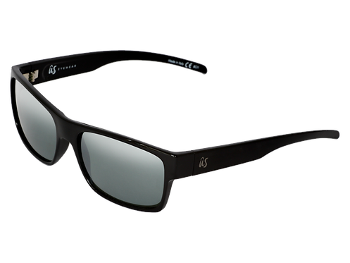 THE ARGOS - Gloss Black with Grey Silver Chrome Lenses (Made in Italy)