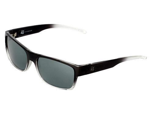 The Argos sustainable sunglasses by Us the Movement in black with crystal fade