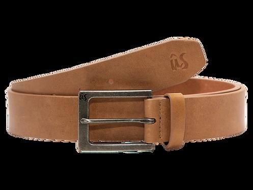THE GIBBSTA - Genuine Leather Belt in Savannah Brown