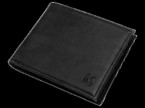 THE SERIN WALLET - Genuine Leather Wallet in Onyx Black