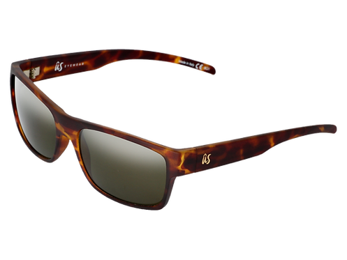 THE ARGOS - Matte Tortoise Shell with Grey Polarized Lenses (Made in Italy)
