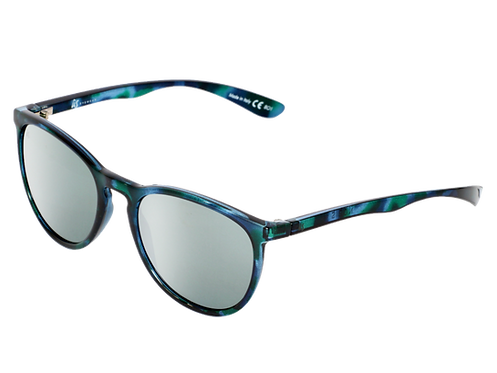 THE NOBIS - Gloss Blue Tortoise Shell with Grey Chrome Lenses (Made in Italy)