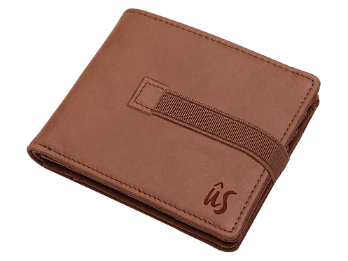 THE MAXY STRAP WALLET - Genuine Leather Wallet in Savannah Brown
