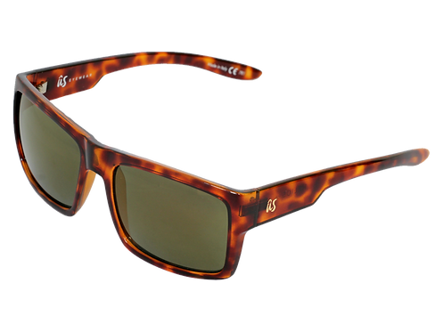 THE HELIOS - Gloss Tortoise Shell with Gold Grey Chrome Lenses (Made in Italy)