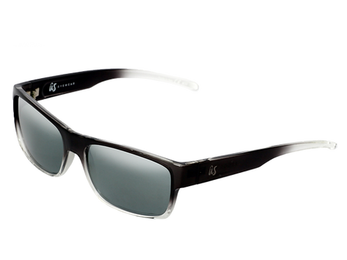 THE ARGOS - Gloss Black Fade with Grey Silver Chrome Lenses (Made in Italy)