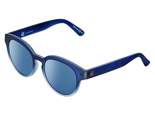 THE NATHI - Matte Blue Fade to Crystal with Blue Chrome Lenses (Made in Italy)
