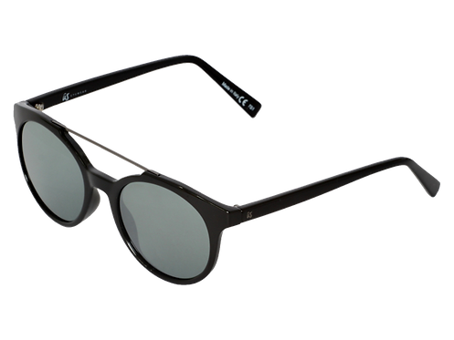The Calix eco-friendly sunglasses by Us the Movement in gloss black with grey chrome lenses