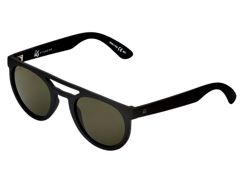 THE NEOS - Matte Black with Vintage Grey Polarized Lenses (Made in Italy)