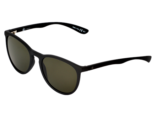 THE NOBIS - Matte Black with Vintage Grey Polarized Lenses (Made in Italy)
