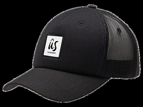 The Lippy Cap in Onyx Black by Ûs the Movement - Trucker Cap